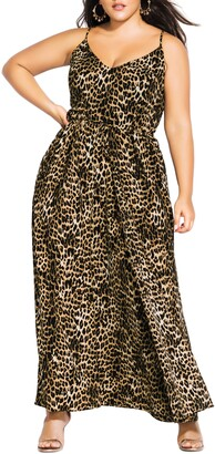 City Chic Leopard Love Maxi Dress
