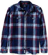 Buffalo David Bitton Sakyro Stonewash Denim Plaid Long-Sleeve Woven Shirt