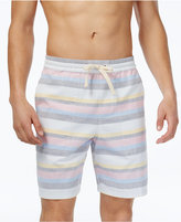 "Original Penguin Men's 8"" Slim-Fit Striped Drawstring Cotton Shorts"