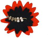 Marni leaf embroidered brooch