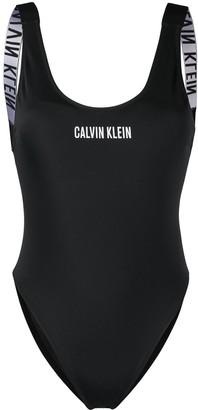 Calvin Klein Logo-Print One-Piece Swimsuit