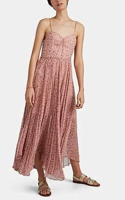 Laura Garcia Collection Women's Georgiana Ikat Silk Chiffon Maxi Dress - Pink