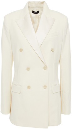 Theory Double-breasted Crepe Blazer