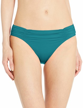 Seafolly Women's Gathered Front Retro Bikini Bottom Swimsuit with Full Coverage