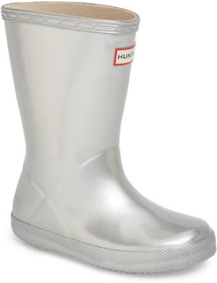 Hunter First Classic Metallic Waterproof Rain Boot