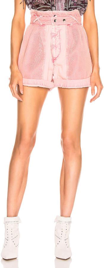 Isabel Marant Twen Short in Light Pink | FWRD