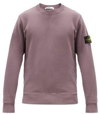 Stone Island Logo-patch Cotton-jersey Sweatshirt - Purple