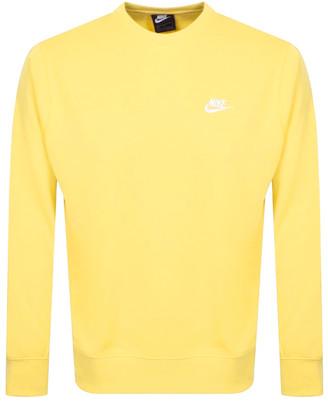 Nike Crew Neck Club Sweatshirt Yellow