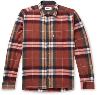 YMC Curtis Checked Wool-Blend Shirt