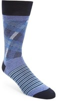 Bugatchi Men's Stripe & Check Socks