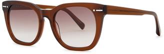 For Art's Sake Jacuzzi brown wayfarer-style sunglasses