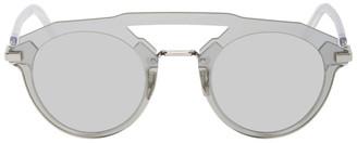 Christian Dior Silver DiorFuturistic Sunglasses