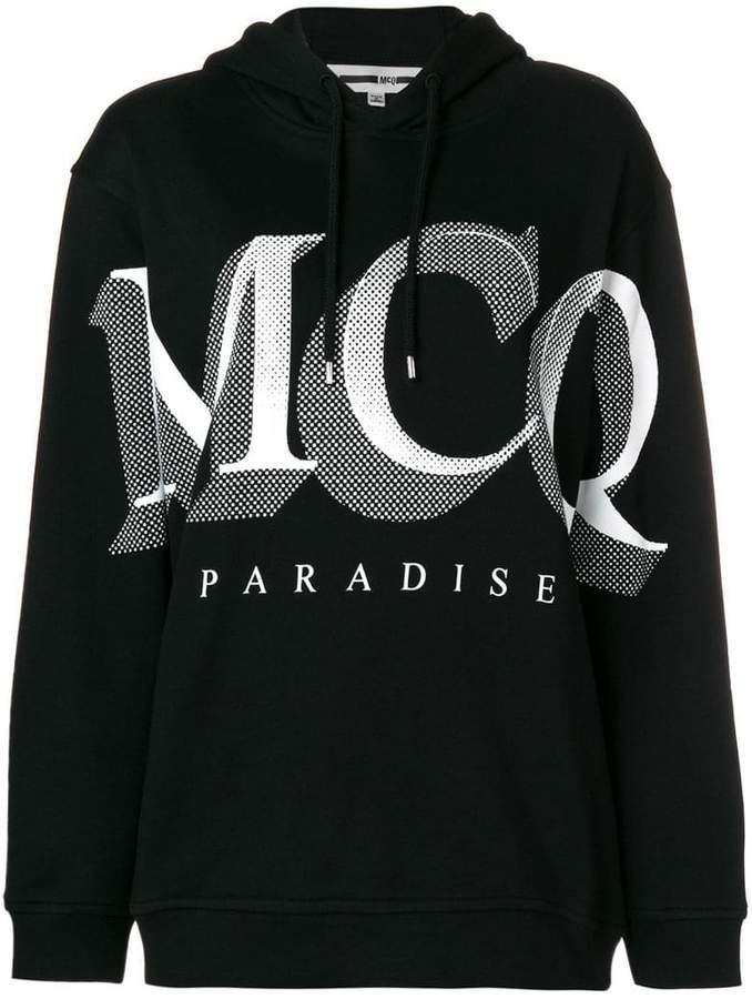 McQ logo print hoodie