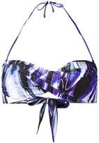 Mona - twisted bandeau bikini top - women - Polyester/Spandex/Elastane - M