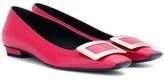 Roger Vivier Belle Vivier Patent Leather Ballerinas