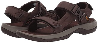 Teva Tanway Leather (Dark Gull Grey) Men's Shoes