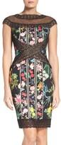 Tadashi Shoji Women's Floral Print Sheath Dress
