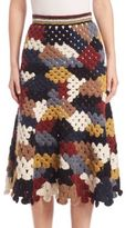Rosetta Getty Patchwork Crochet Skirt