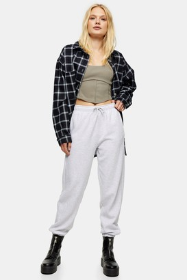 Topshop Womens Classic Grey 90'S Oversized Joggers - Grey Marl