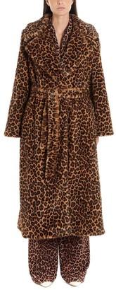 Sara Battaglia Leopard Print Fur Coat