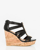 Le Château Leather-Like Gladiator Wedge Sandal