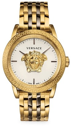 Versace Palazzo Empire IP Yellow Goldtone Bracelet Watch