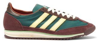 Adidas X Wales Bonner - Sl72 Technical-canvas And Suede Trainers - Green Multi