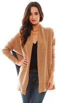Minnie Rose Cashmere Color Blocked Cardigan in Shark Combo