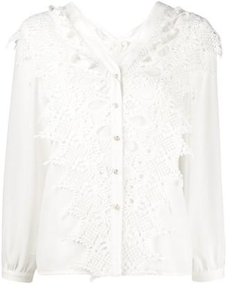 Jovonna London Alta lace panel shirt