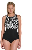 Reebok Women's Curls High-Neck One-Piece Swimsuit