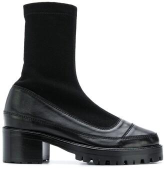 Nicole Saldaña Platform Sock Boots