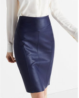 Express minus The) Leather Pencil Skirt