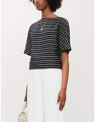 Ted Baker Kimono sleeve striped crepe T-shirt