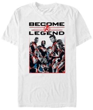 Marvel Men's Avengers Endgame Become a Legend, Short Sleeve T-shirt