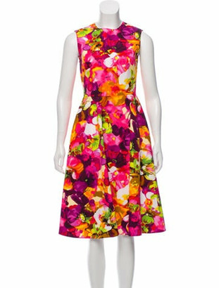 Valentino Sleeveless Midi Dress Pink