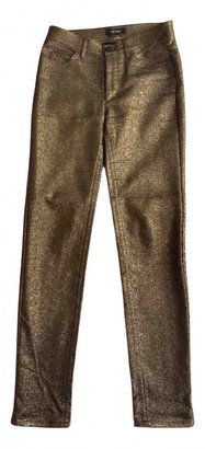 Isabel Marant Gold Cotton - elasthane Jeans