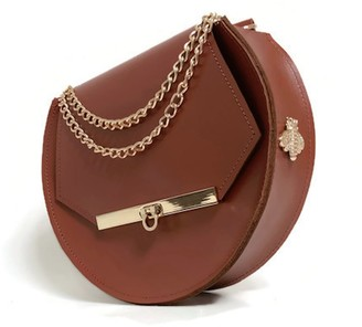 Angela Valentine Handbags Loel Military Bee Circle Bag In Chestnut