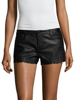 Blank NYC Faux Leather Embroidered Eyelet Short