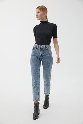 BDG High-Waisted Slim Straight Jean Acid Wash