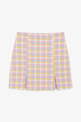 Monki Fitted mini skirt
