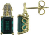 JCPenney FINE JEWELRY Lab-Created Emerald and Sapphire Earrings