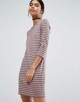 Vila Jersey Stripe Mini Dress