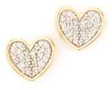 Adina Folded Heart Post Earrings