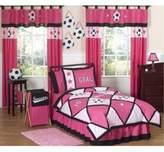 JoJo Designs Sweet Soccer Full/Queen 3-Piece Comforter Set in Pink