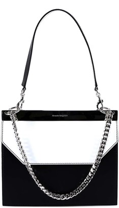 Alexander McQueen Two Tone Drop Chain Shoulder Bag