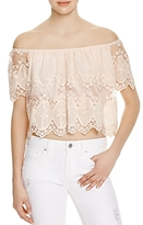 Lucy Paris Off-the-Shoulder Lace Top - 100% Exclusive