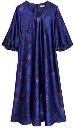 Arket Satin Balloon-Sleeve Dress