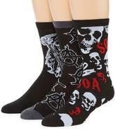 Asstd National Brand Sons of Anarchy 3-pk. Crew Socks