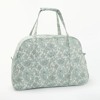 John Lewis & Partners Chrysanthemum Print Sewing Machine Bag, Green