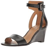 Nine West Women's Nobody Leather Wedge Sandal